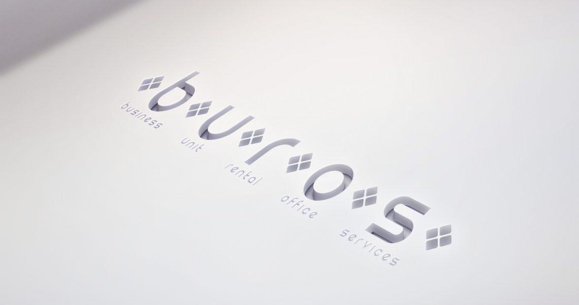 Cutout Logo Mock-Up BUROS
