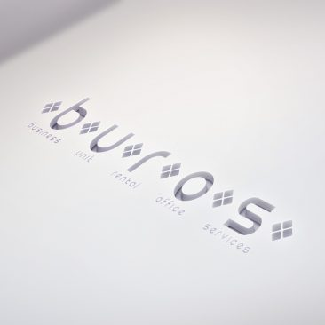 Cutout Logo Mock-Up BUROS