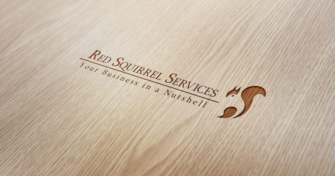 Wood Engraved Logo Mock-Up Red