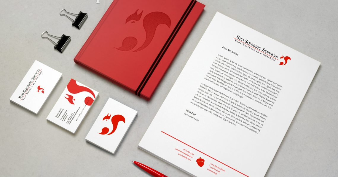 Red Squirrel Services Stationary Pack
